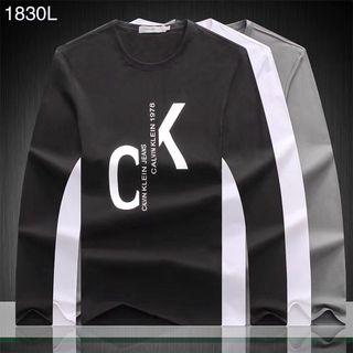 Calvin Klein メンズ長袖Tシャツ 3色選択 4