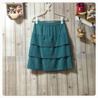 CLEAR IMPRESSION グリーンのスカート