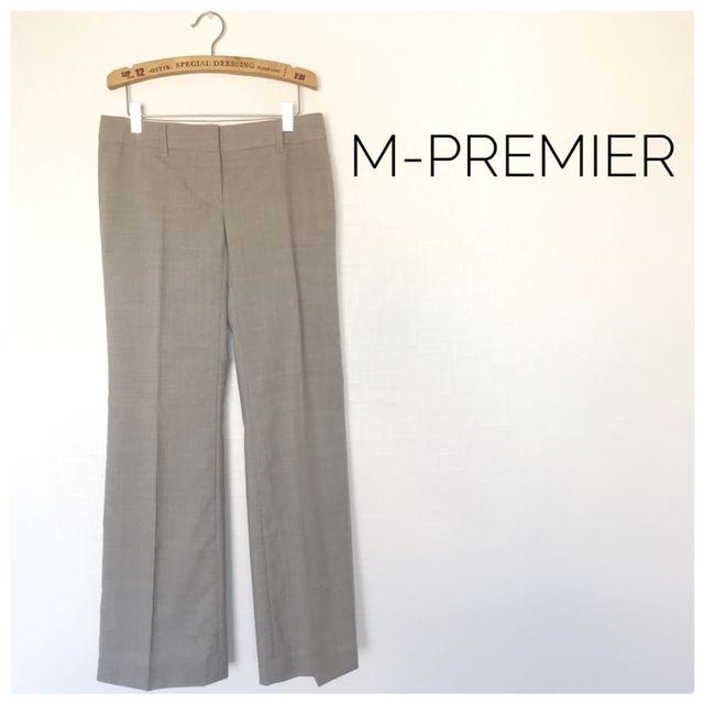 6美品M-PREMIER センタープレス シンプル 通勤(M-premier(エム・プルミエ) ) - フリマアプリ&サイトShoppies[ショッピーズ]