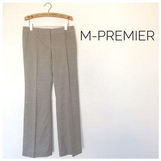 6美品M-PREMIER センタープレス シンプル 通勤