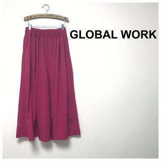 48美品GLOBAL WORK スカンツ ワイドパンツ