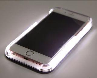 夜でも安心(^▽^)/自撮りライト付き iPhone6ケース