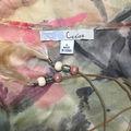 Cacioカラフル花柄 シースルーチェニック