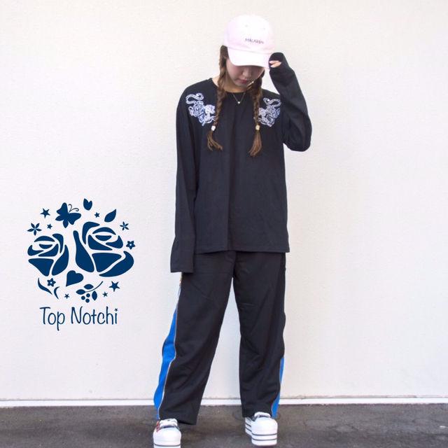 ストリート ブルー ライン パンツ 韓国 チャック(ノーブランド ) - フリマアプリ&サイトShoppies[ショッピーズ]