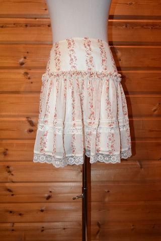 Apuweiser-riche 花柄シフォンスカート