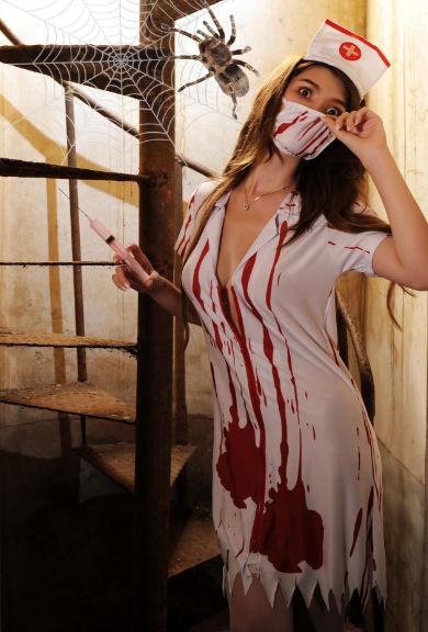 【新品】ホラーなナースセット ナース服 血まみれ ナース
