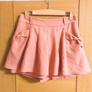 ピンクりぼんキュロットスカート