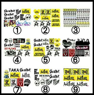 デザイン35種類 ONE OK ROCK タトゥーシール