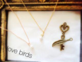 Love birds パール ネックレス