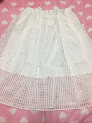 WEGO 白 スカート