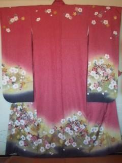 ピンク*ラメ桜柄振袖「丸昌」チョー美品トール丈