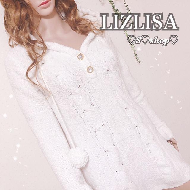 LIZLISAフード付きニットワンピース(LIZ LISA(リズリサ) ) - フリマアプリ&サイトShoppies[ショッピーズ]
