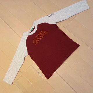 ベネトン 110 長袖 Tシャツ ロンT 綿100% ロゴ