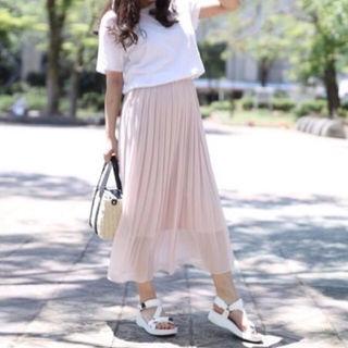 UNIQLO シフォンプリーツスカート ピンク