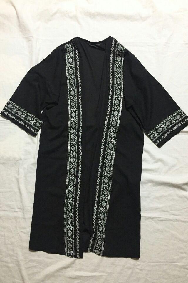 刺繍シフォンロングガウン