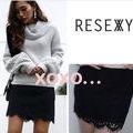 新品 RESEXXY 総レーススカート