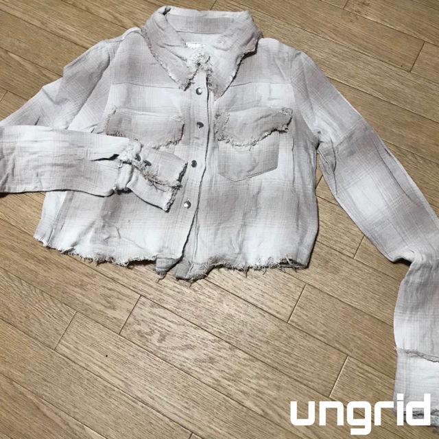 ungrid 短丈チェックシャツ(UNGRID(アングリッド) ) - フリマアプリ&サイトShoppies[ショッピーズ]