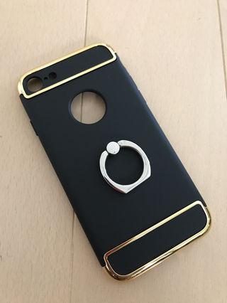 新品iPhone7ケース バンカー付き ロゴ見せ メッキ