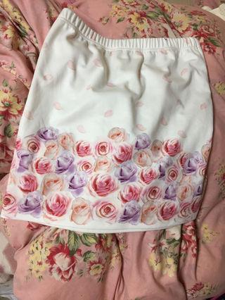 ローズプリントタイトスカート