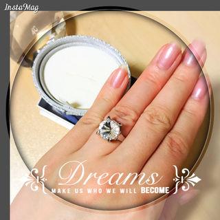きらきらジルコニアリング指輪