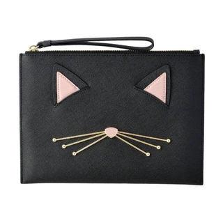 ケイトスペード Kate Spade猫モチーフクラッチバッグ