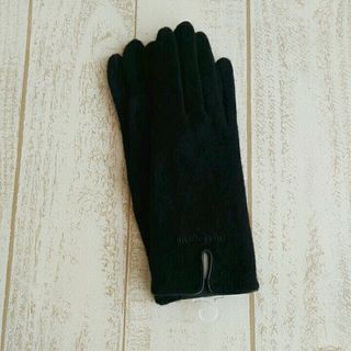 marie claire新品手袋/ロゴ刺繍/ブラックC
