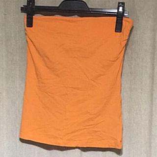 H&Mビビットオレンジ チューブトップ