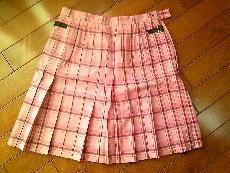ポンポネット*チェック柄スカート