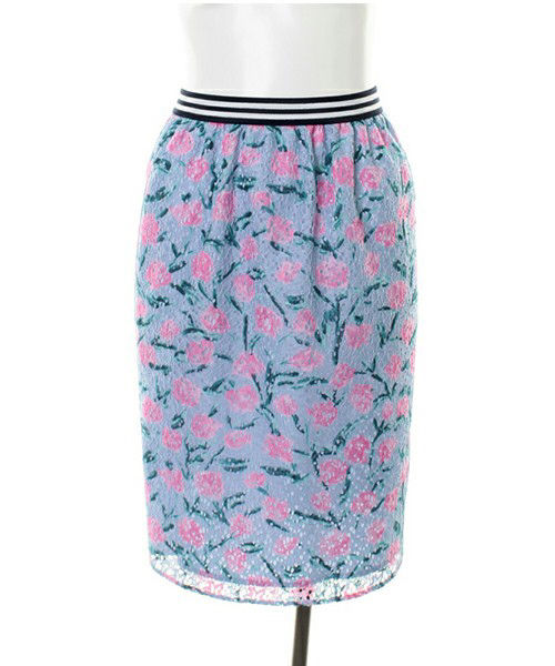 ローラ定価7452円レースフラワータイトスカート