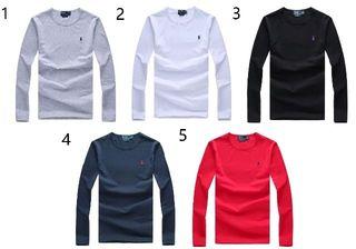 人気新品POLOポロ ラルフローレン/Tシャツ男性用長袖5色