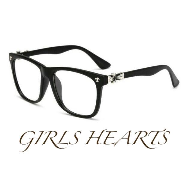 送料無料クロムシルバーブラック黒クロスフレア眼鏡メガネめがね - フリマアプリ&サイトShoppies[ショッピーズ]