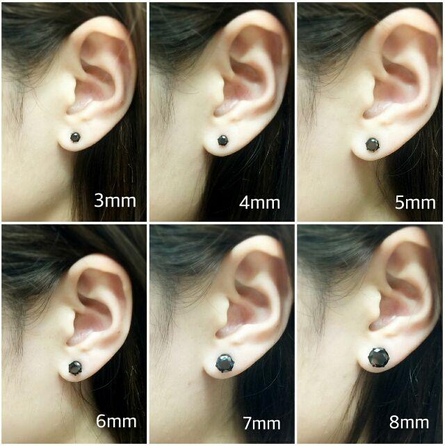 (414) 医学用 ステンレス1ポイントピアス 両耳
