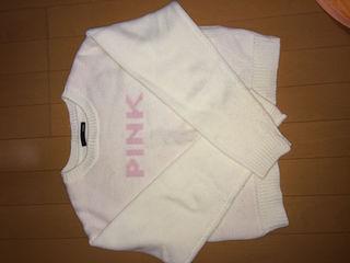 pink ニット