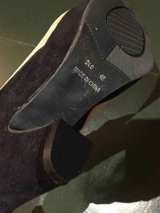 【新品】ブーティー ブーツ ツートンカラー ベージュ 黒
