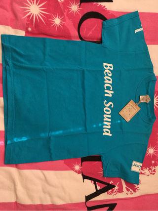 Beach Sound新品タグ付きTシャツ水色