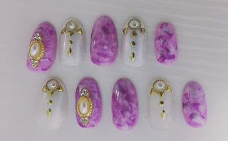 紫ベースネイル