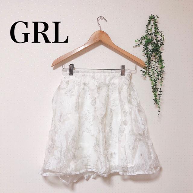GRL オーガンジーフラワースカート(GRL(グレイル) ) - フリマアプリ&サイトShoppies[ショッピーズ]