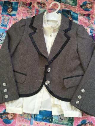 女の子用ジャケット・シャツセット(120cm)