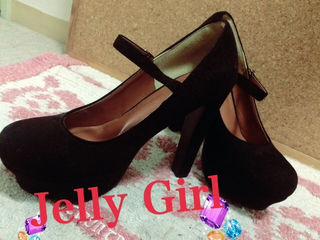 Jelly Girl/前厚太ヒールパンプス