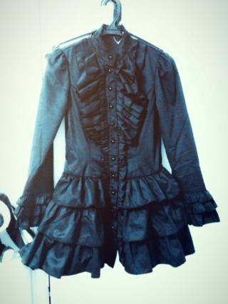 【ゴスロリ】黒フリルワンピ