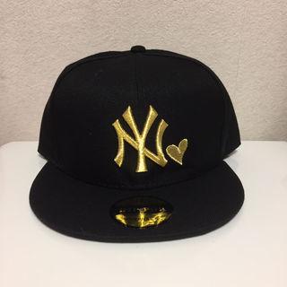 ヤンキース キャップ 黒金