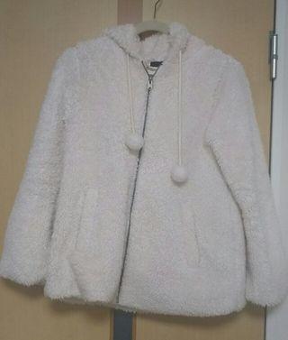 訳あり!dipdrops モコモコ コート ホワイト M