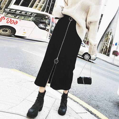【黒/M】タイトスカート フロントファスナーペンシルスカート - フリマアプリ&サイトShoppies[ショッピーズ]