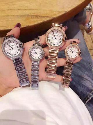 Cartierバロンブルー腕時計 ダイヤ