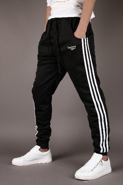 メンズ スウェット ジョガーパンツ 3本ライン ブラック M(ノーブランド ) - フリマアプリ&サイトShoppies[ショッピーズ]
