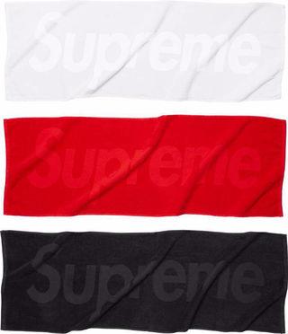 sup  タオル 3枚セット ホワイト ブラック レッド