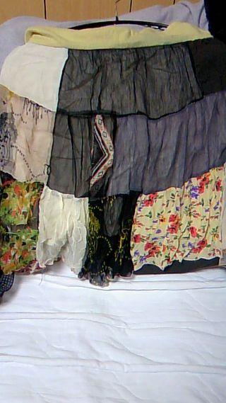 パッチワーク風夏用スカート