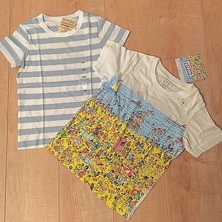 【新品 100cm セット】ウォーリー & 無印 Tシャツ