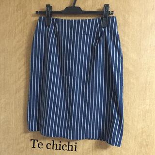 Te chichi*ストライプタイトスカート