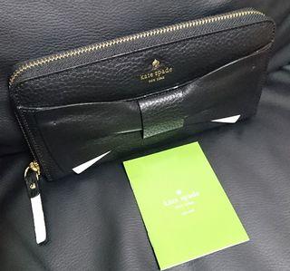 直営店モデルリボンがキュート ケイトペード長財布ジップ